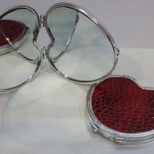 Дамско огледалце – червено